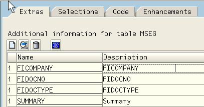 Case 3 Coding using work area or internal table for additional